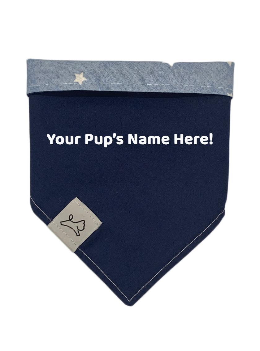 personalized patriotic hook and loop dog bandana