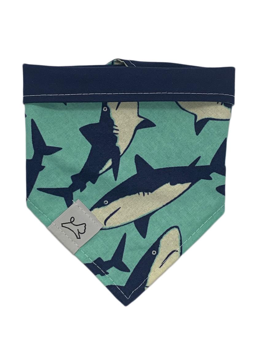 Personalized hook and loop dog bandana
