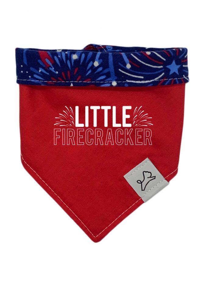 Patriotic hook and loop dog bandana